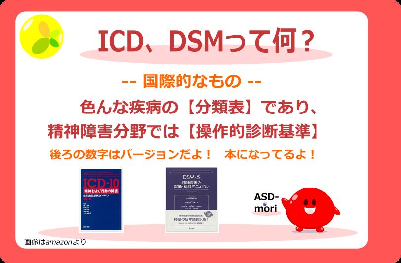 ICD、DSMって何?