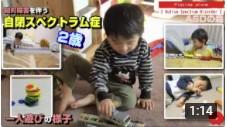 自閉症児の一人遊びの様子が分かる動画