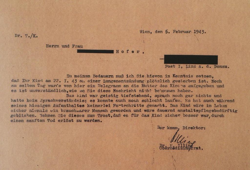 シュピーゲルグルントからの手紙