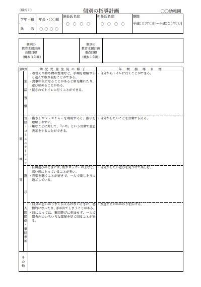 山口県の個別の指導計画
