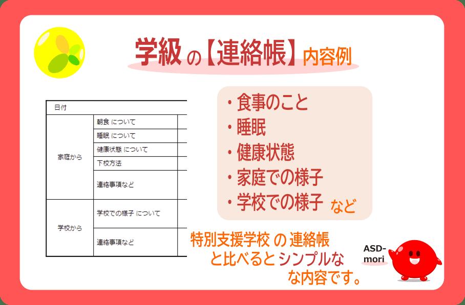 学級の連絡帳